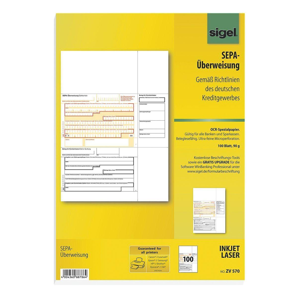 Sigel PC-SEPA-Überweisung