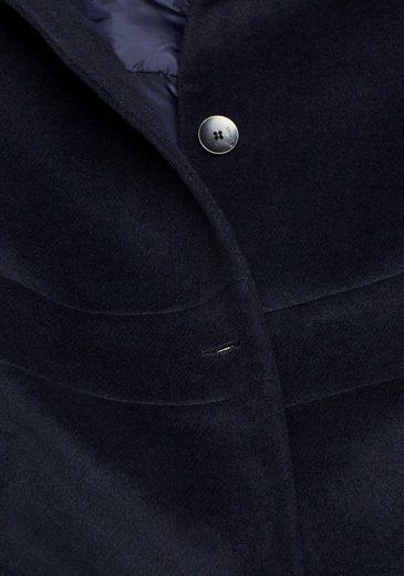 Esprit Collection Wollmantel im trendy Lagen-Look  mit Kapuze