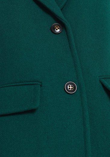 Esprit Wollmantel in modischer Blazer-Form