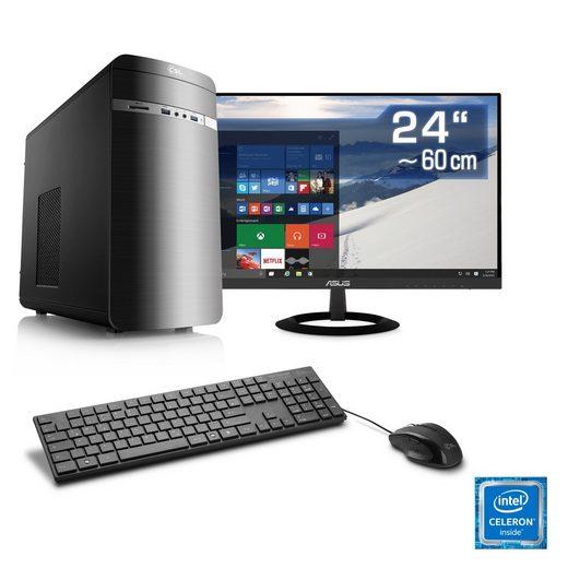"CSL Office PC Set, Intel Quad Core, 8GB RAM, 480GB SSD, 24"" TFT »Speed T1982 Windows 10 Home«"
