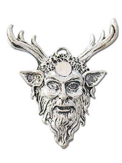 Adelia´s Amulett »Siegel der Hexerei (versilbert)«, Cernunnos - Stärke und Ermächtigung