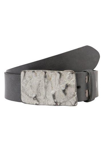 RETTUNGSRING by showroom 019° Ledergürtel »Gump« mit schicker Steinstrukturschließe