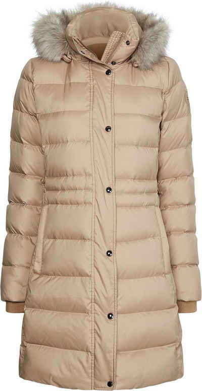 Tommy Hilfiger Steppmantel »TH ESS TYRA DOWN COAT WITH FUR« mit abnehmbarer Kapuze