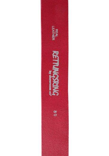 RETTUNGSRING by showroom 019° Ledergürtel mit austauschbarer Muschel-Schließe