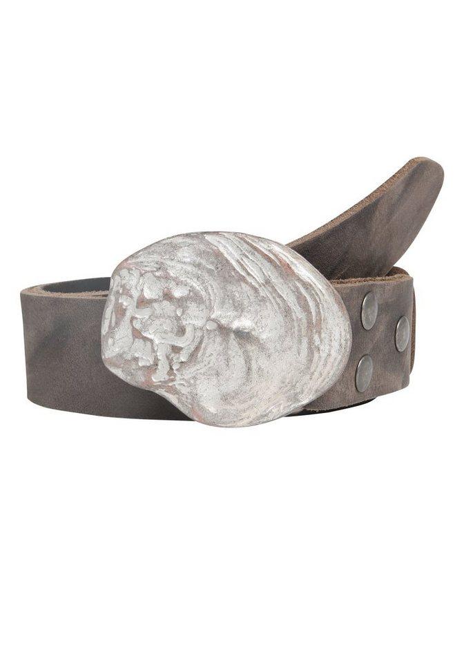 Guertel - RETTUNGSRING by showroom 019° Ledergürtel mit schicker Muschelschließe › grau  - Onlineshop OTTO