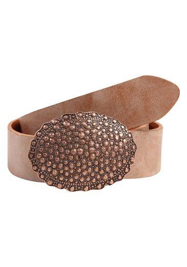 RETTUNGSRING by showroom 019° Ledergürtel mit austauschbarer Oval-Schließe mit Nieten