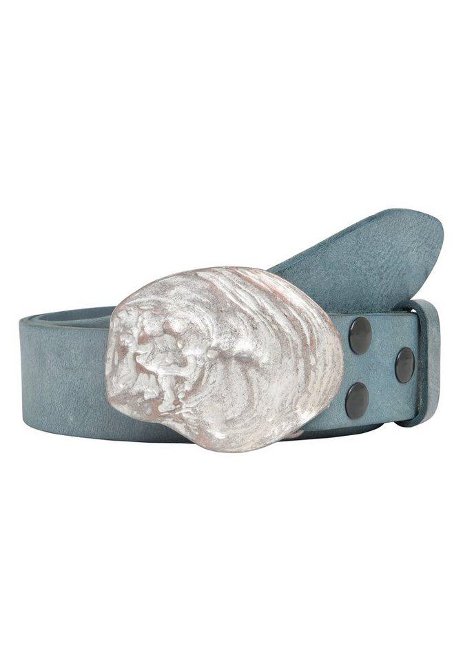 Guertel - RETTUNGSRING by showroom 019° Ledergürtel »Gump« mit raffinierter Metallschließe › blau  - Onlineshop OTTO