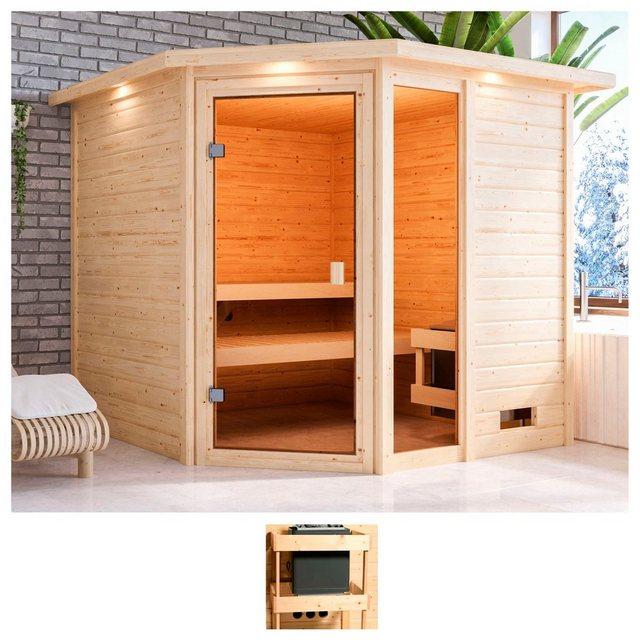 Saunen und Zubehör - KARIBU Sauna »Tally«, 224x210x191 cm, ohne Ofen, Dachkranz  - Onlineshop OTTO
