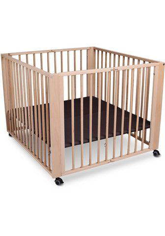 TISSI ® medinė lovytė su ratukais