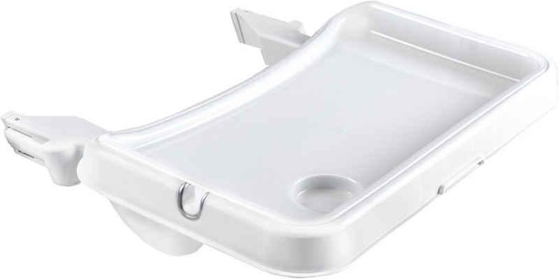 Hauck Hochstuhltablett »Alpha Tray Tischaufsatz, weiß«, Kunststoff, für Hochstühle Alpha+ und Beta+