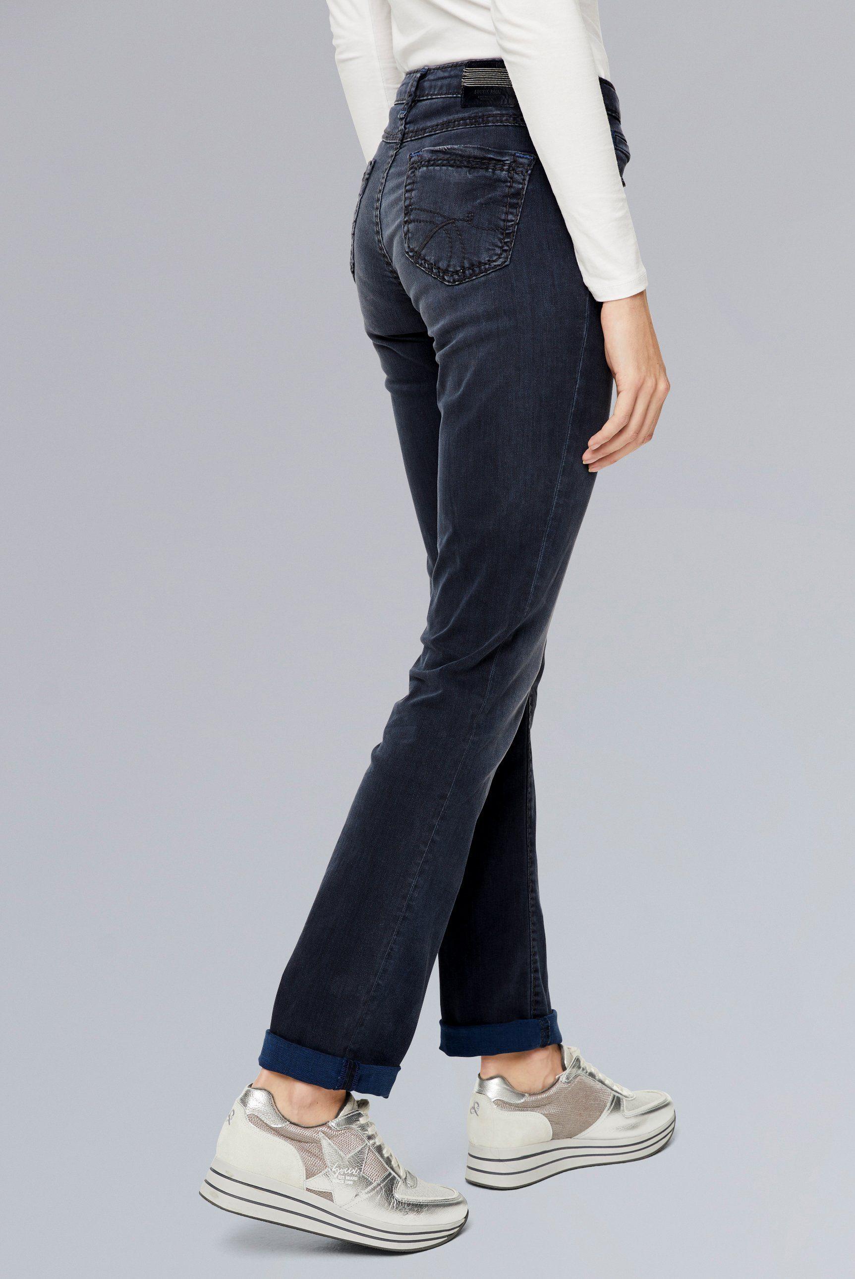 SOCCX Regular-fit-Jeans RO:MY mit breiten Nähten