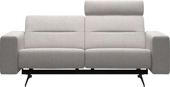 Stressless® 2-Sitzer »Stella«, mit Zwischennaht im Rücken, Armlehnen S1, Fuß Mattschwarz, Breite 197 cm
