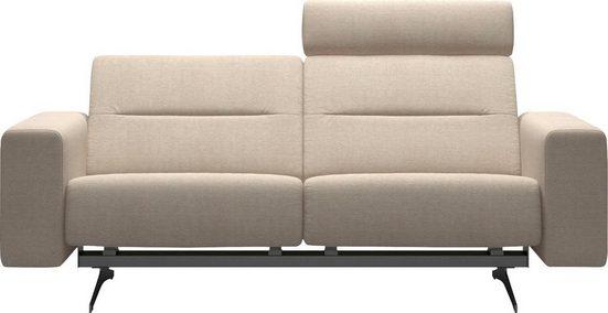 Stressless® 2-Sitzer »Stella«, mit Zwischennaht im Rücken, Armlehnen S1, Fuß Chrom, Breite 197 cm