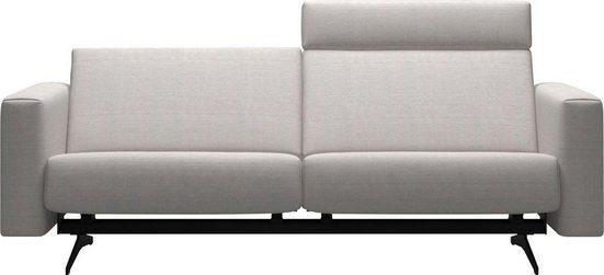 Stressless® 2,5-Sitzer »Bella«, mit glatter Rückenlehne, Armlehnen B2, Fuß Mattschwarz, Breite 215 cm
