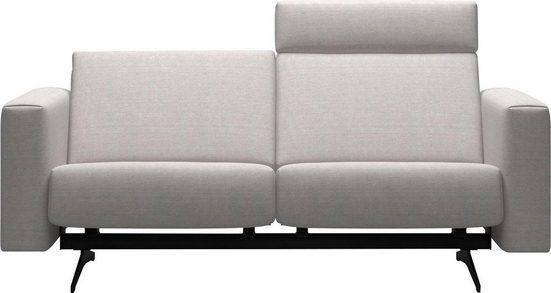 Stressless® 2-Sitzer »Bella«, mit glatter Rückenlehne, Armlehnen B2, Fuß Mattschwarz, Breite 185 cm