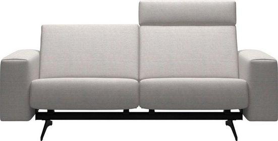 Stressless® 2-Sitzer »Bella«, mit glatter Rückenlehne, Armlehnen B1, Fuß Mattschwarz, Breite 197 cm