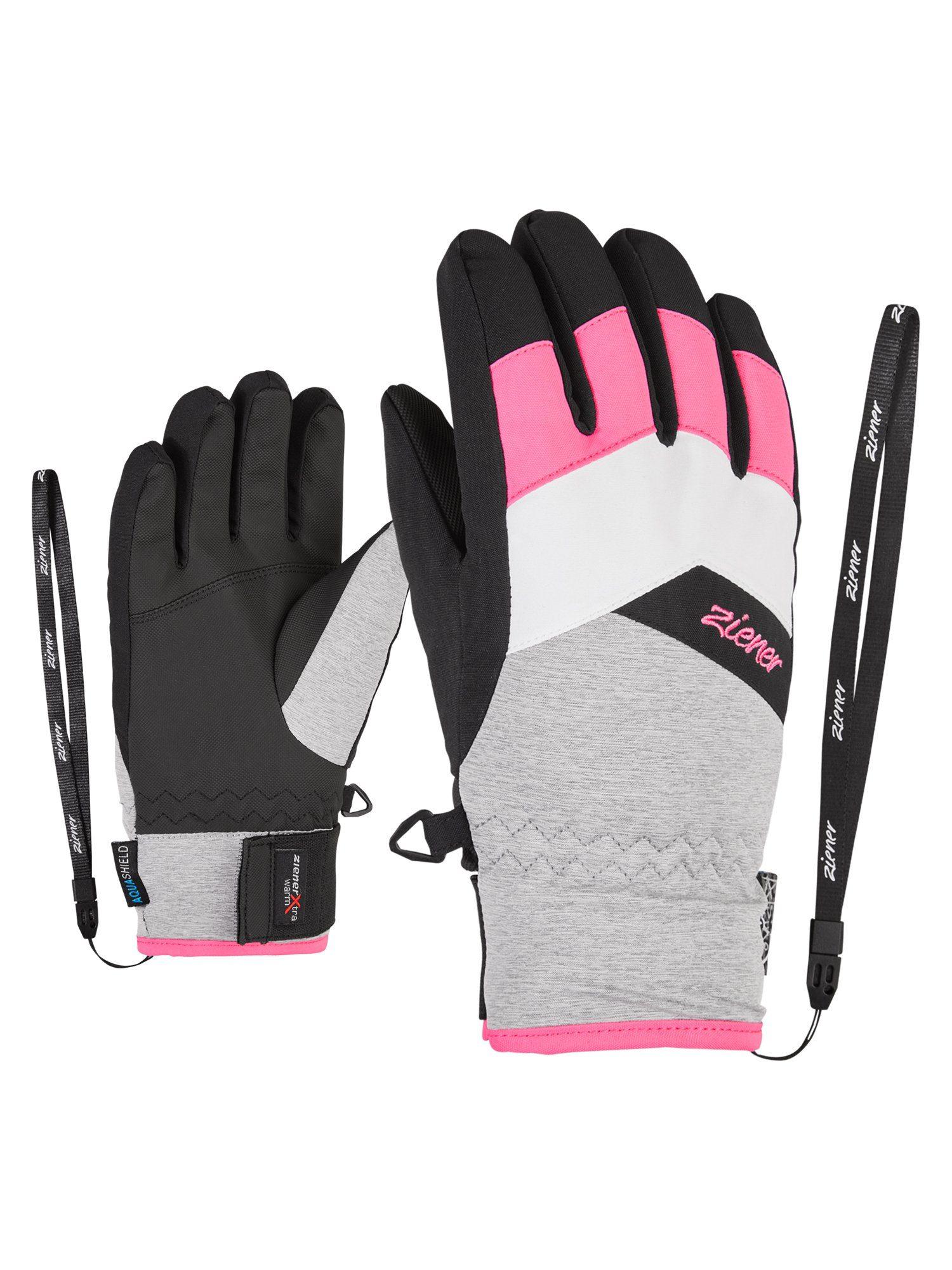 Ziener Kinder Ski Handschuh LARA GTX® GIRLS schwarz