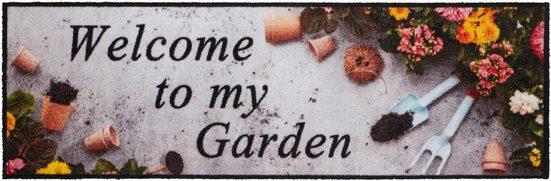 Läufer »Welcome To My Colorful Garden«, HANSE Home, rechteckig, Höhe 5 mm, waschbar, In- und Outdoor geeignet