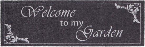 Läufer »Welcome To My Garden«, HANSE Home, rechteckig, Höhe 5 mm, waschbar, In- und Outdoor geeignet