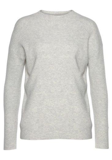 Calvin Klein Strickpullover »LS FASHIONED RIB SWEATER« in modischem Rippenstrick