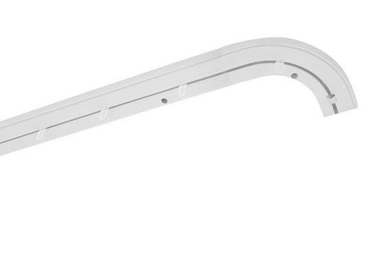 Gardinenschiene »Vorhang-Schiene SAM 1-Lauf, Rundbogen links + rechts«, Good Life, 1-läufig, Wunschmaßlänge