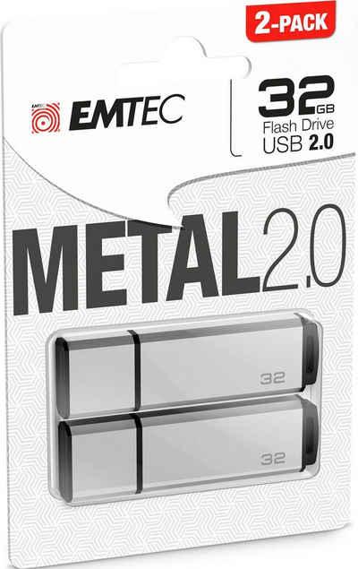 EMTEC »C900« USB-Stick (USB 2.0, Lesegeschwindigkeit 15 MB/s, 2er Pack (2x 32 GB)