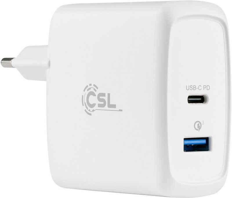 CSL »60 Watt 1x USB Type-C, 1x USB Type-A« Schnelllade-Gerät