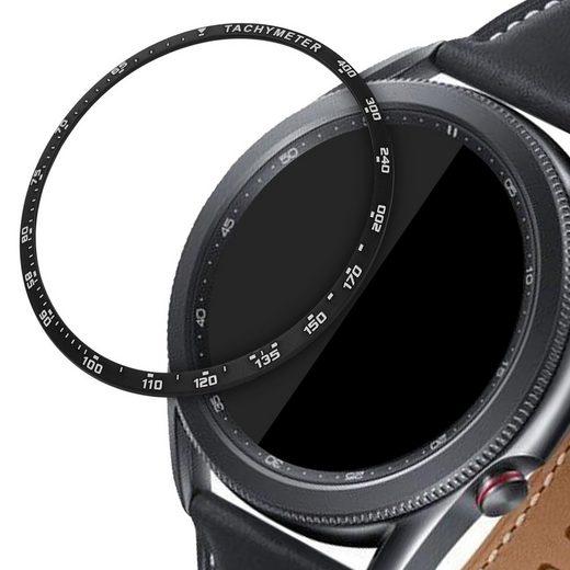 kwmobile Smartwatch-Hülle, Schutzring für Samsung Galaxy Watch 3 (45mm) - Bezel Ring Lünette mit Tachymeter Skala