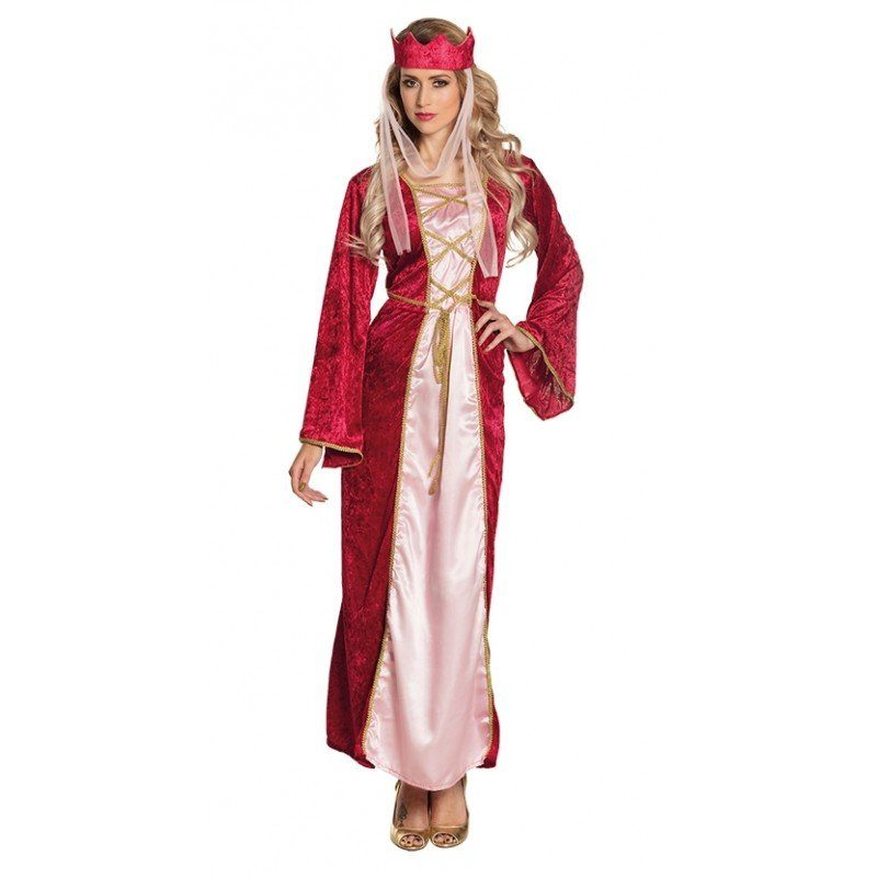 Unisex Renaissance Königin Damenkostüm bunt,  mehrfarbig | 08712026835789