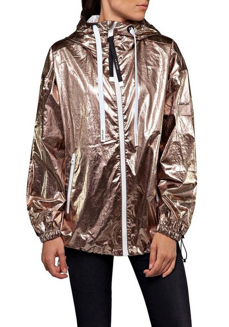 Replay Blousonjacke oversized Jacke im trendy Metallic-Look | Bekleidung > Jacken > Blousonjacken | Replay