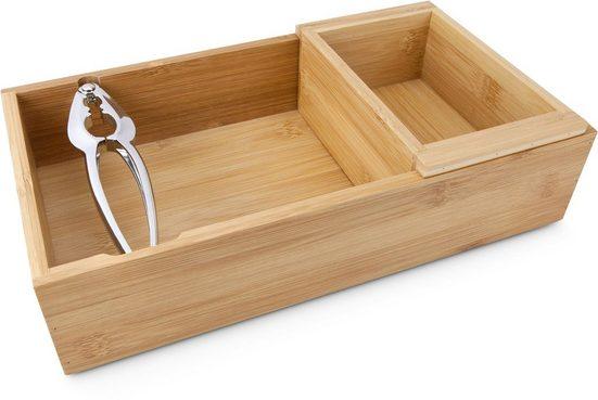 ROMINOX Nussknacker »Nux«, (Set, 3-tlg., bestehend aus: Nussknacker, Behälter für Nüsse und Restebehälter)