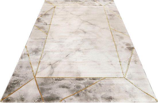 Teppich »#M.A.R.B.L.E & B«, Wecon home, rechteckig, Höhe 12 mm, Marmor Struktur, Kurzflor
