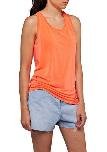 Replay T-Shirt mit Ringerrücken im trendy Neon-Look