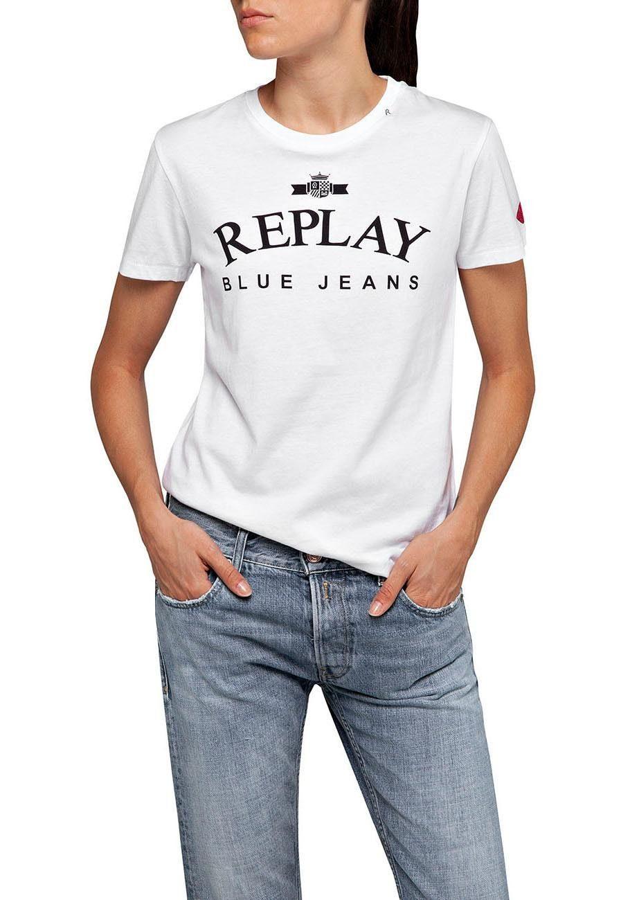 Replay Crew Neck Vintage Print Sweatshirt