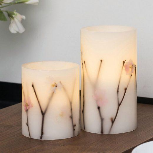 Pauleen LED-Kerze »Shiny Blossom Candle 2er Set« (2-tlg)