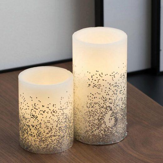 Pauleen LED-Kerze »Glowing Glitter Candle 2er Set« (2-tlg)
