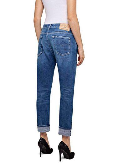 Replay Destroyed-Jeans »MARTY« im 5-Pocket-Style mit Sitzfalten-Effekten