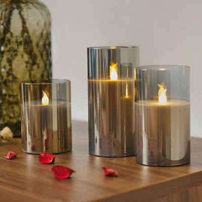 Pauleen LED-Kerze »Classy Smokey Candle« (Set, 3-tlg), Wachskerze