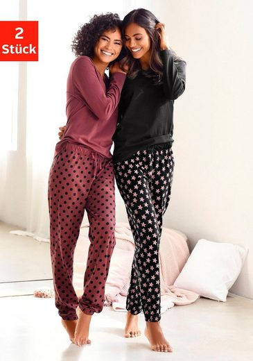Vivance Dreams Pyjama 2 Stück mit Sternenmuster