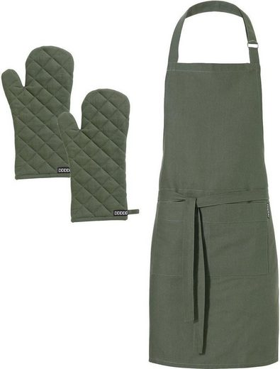 DDDDD Kochschürze »Kit«, (Set, 3-tlg), mit Ofenhandschuhe