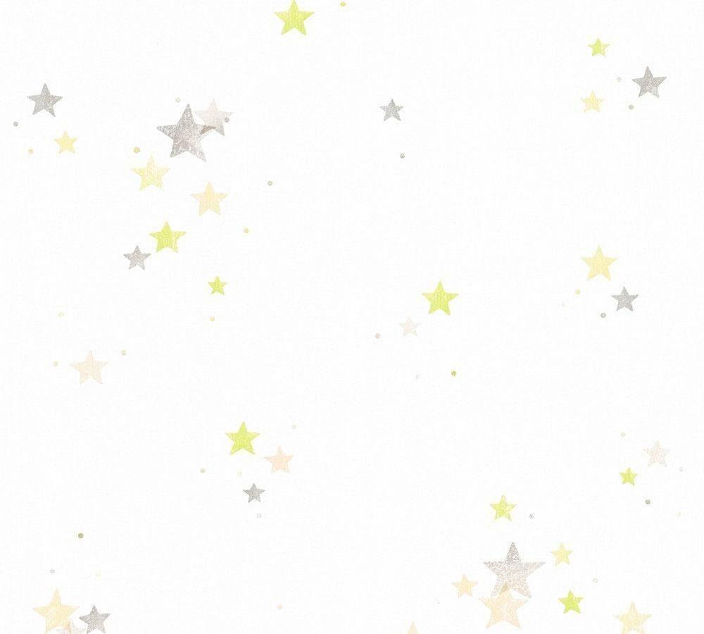 Sternentapete Weiß Rosa Pink Blau Lila Esprit Kids Kindertapete Tapete mit Stern