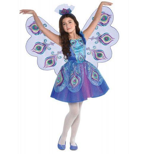 Violet Pfau Kostüm für Mädchen