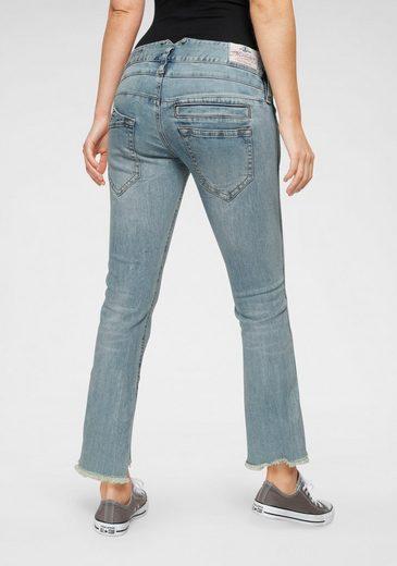 Herrlicher 7/8-Jeans »PITCH CROPPED« mit ausgefranstem Saumabschluss