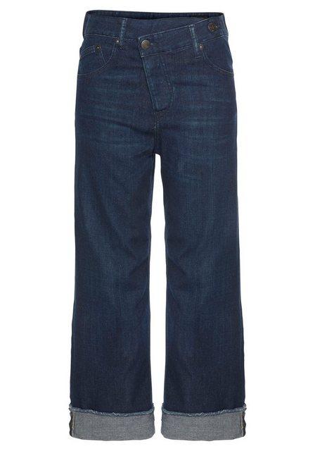 Herrlicher Weite Jeans »MAZE« New Cut: als Cropped oder Schlagjeans tragbar | Bekleidung > Jeans > Weite Jeans | Herrlicher