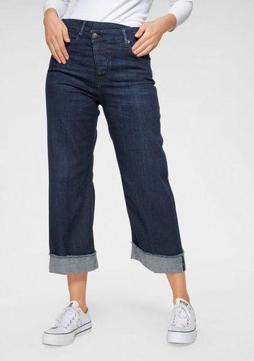 Herrlicher Weite Jeans »MÄZE« New Cut: als Cropped oder Schlagjeans tragbar