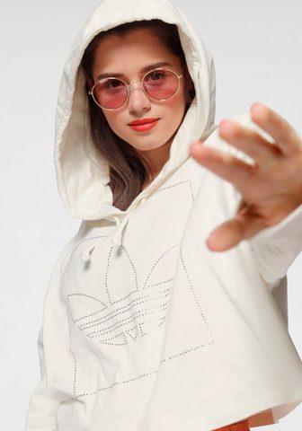 ADIDAS ORIGINALS Sportinis megztinis su gobtuvu »CROPPE...