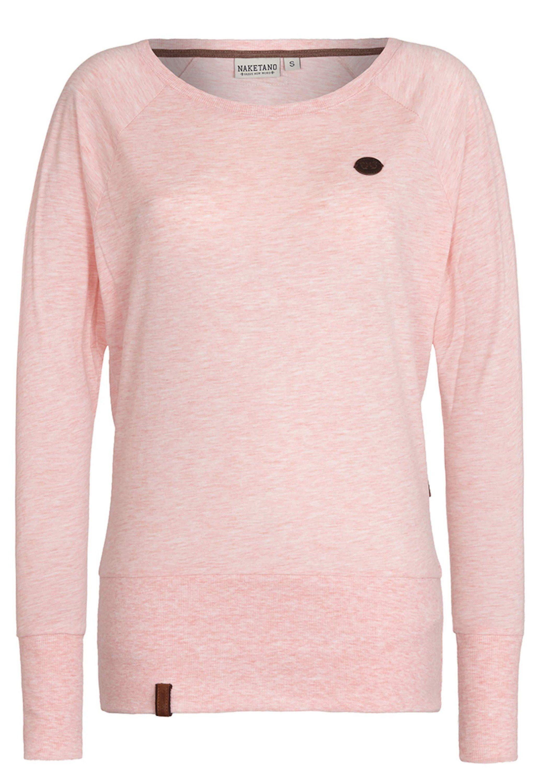 NAKETANO Hoodie in Melangeoptik in Rosé online kaufen