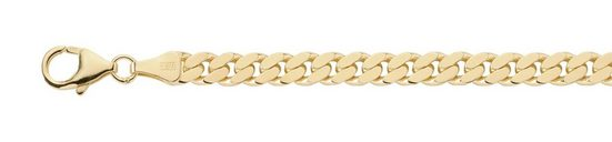 Adelia´s Silberkette »Silber 925 Sterling Silver Halskette - Collier«, Silber goldplattiert Flach Panzerkette