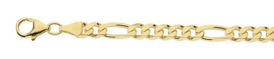 Adelia´s Silberkette »Silber 925 Sterling Silver Halskette - Collier«, Silber goldplattiert Figarokette