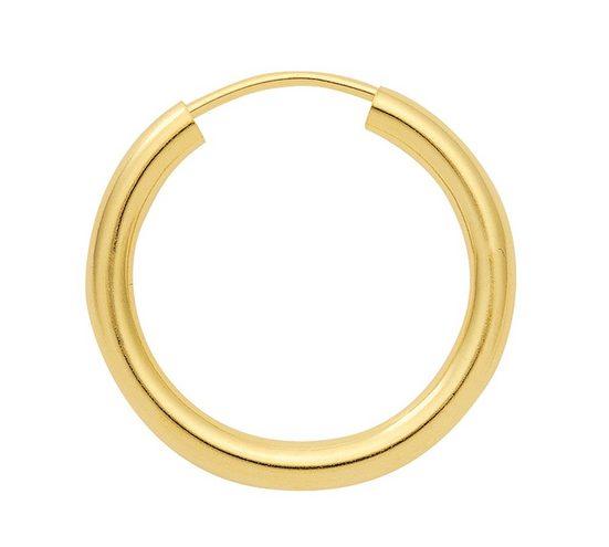 Adelia´s Paar Creolen »Gold 14 k (585) Ohrringe - Creolen«, 14 k 585 Gelbgold Ø 2 cm